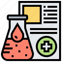 data, healthcare, report, science icon