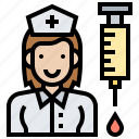 healthcare, hospital, medical, nurse, uniform icon