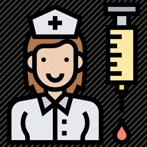 healthcare, hospital, medical, nurse, uniform icon