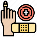 adhesive, healthcare, hospital, medical, plaster icon