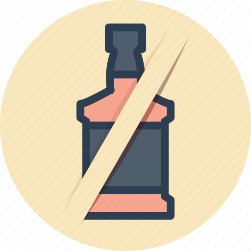 alcohol, bottle, no, sign, whiskey icon