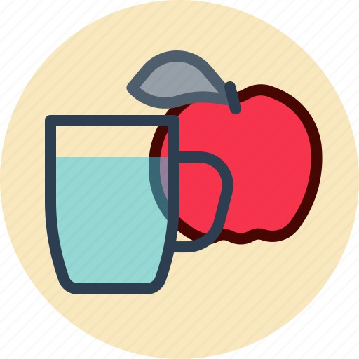 apple, food, healthy, water icon