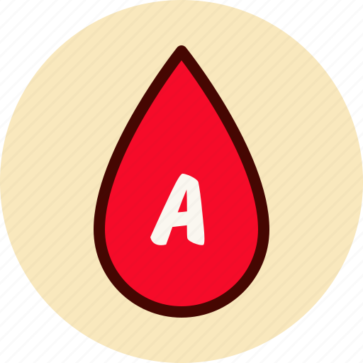 a, blood, drop, medical, type icon