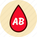 ab, blood, drop, medical, type icon