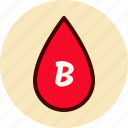 b, blood, drop, medical, type icon