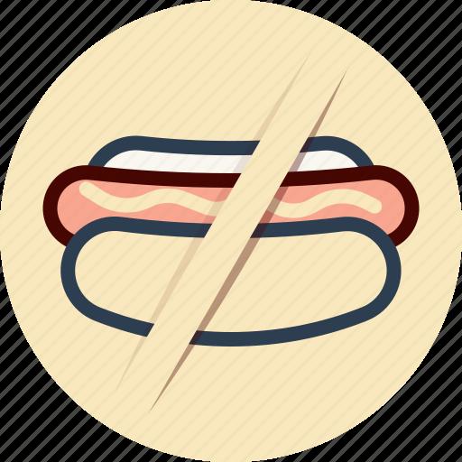 Dog, food, hot, no, sign icon - Download on Iconfinder