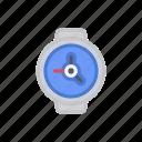 clock, watch, wristwatch, bloomies, time, interface