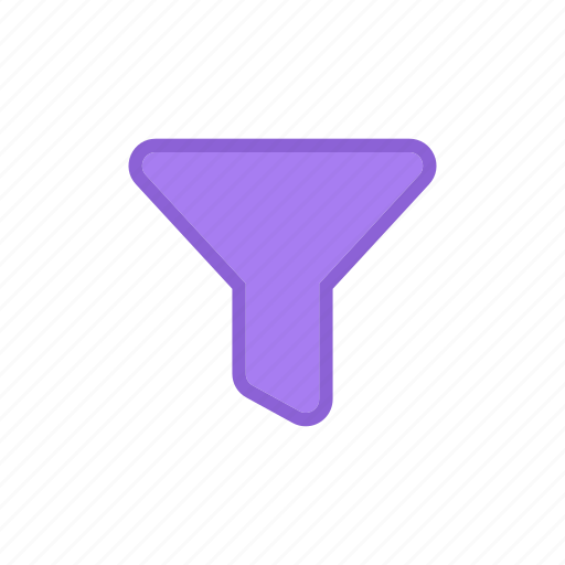 bloomies, filter, funnel, interface icon