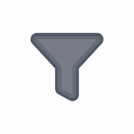 bloomies, dark, filter, funnel, interface icon