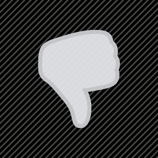 bloomies, dislike, gesture, inactive, interface, thumbsdown icon