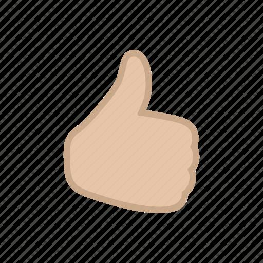 bloomies, fleshtoned, gesture, interface, like, thumbsup icon
