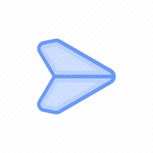 bloomies, interface, message, paper, plane, send, share icon