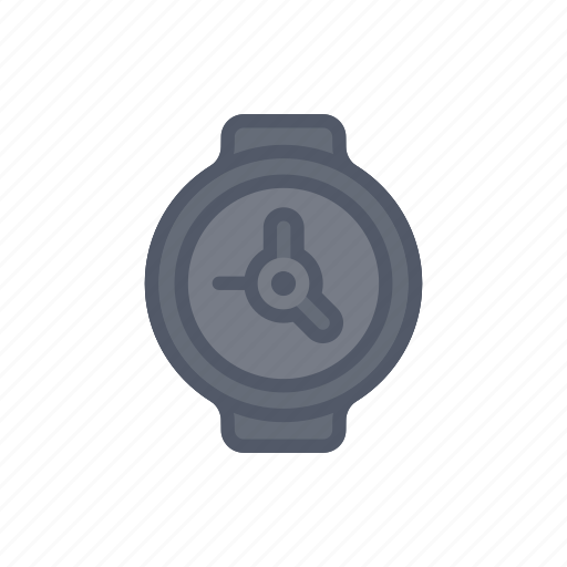 bloomies, clock, dark, interface, time, watch, wristwatch icon