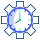 clock, management, time icon