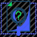 analyses, file, search, seo icon