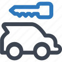 auto security, business, car rental, rent icon