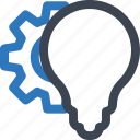 brainstroming, idea development, innovation, solution icon