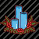 candle, celebration, christmas, decoration, new year, winter, xmas