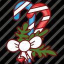 candy, cane, christmas, decoration, food, sweet, xmas