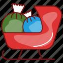 christmas, decoration, gift, new year, sleigh, winter, xmas