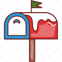 christmas, letter, mail, mailbox, message, winter, xmas icon