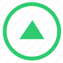 arrow, navigation, top, up icon