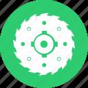 blade, circular, cut, mashine, round, wood icon