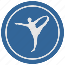 body, fitness, gym, man, round, trainings icon