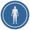 body, bodybuilder, fit, fitness, man, round, slim icon