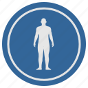 body, figure, fit, human, man, slim, sport icon