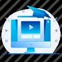 education, internet, network, online, study, web icon