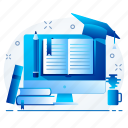 education, learn, learning, online, study icon