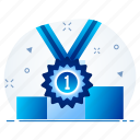 achievement, award, badge, medal, winner icon