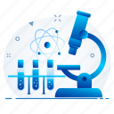 analysis, biology, microscope, research icon