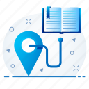 distance, education, learning, online, study icon