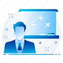 education, elearning, learning, online, study icon