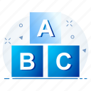 abc, alphabet, english, letters, uppercase icon