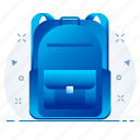 bag, baggage, education, school, study icon