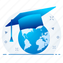 education, global, learning, school, science, study icon