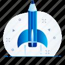 creative, education, idea, launch, learning icon