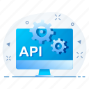 api, gear, page, settings, site, web icon