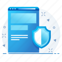 firewall, page, security, seo, web icon