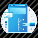 design, designing, page, web icon