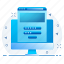 page, password, user id, web, website icon
