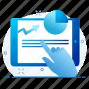 analysis, analytics, graph, page, web icon