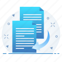 content, copy, document, duplicate, text icon