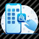 lock, mobile, password, safety icon