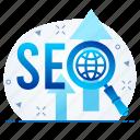 marketing, optimization, seo, web icon