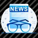 news, newsletter, specs icon