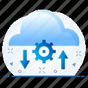 cloud, download, seo, server, upload icon